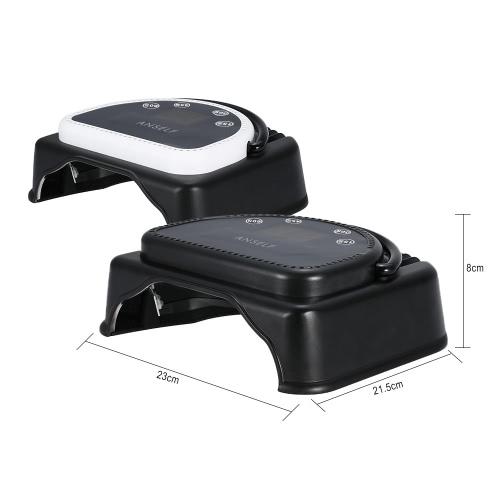 Anself 110-240V 64W chiodo essiccatore Pro 32pcs LED lampada di polimerizzazione macchina con sollevamento maniglia Touch sensore LCD schermo potente Smalto Gel asciugacapelli Salon strumento U.S. Plug nero