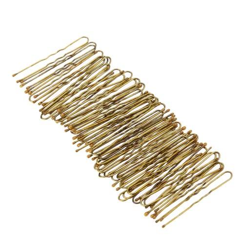 300Pcs Goldener Bobby Pins dünn U Form Haarnadeln Frauen Haarspangen