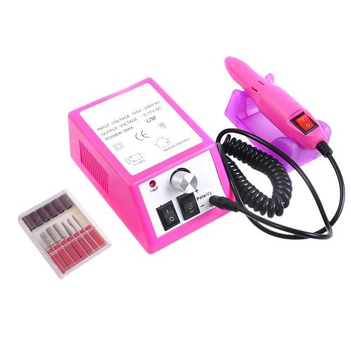 NUEVO Kit de acrílico eléctrico profesional de la máquina del archivo del taladro de clavo de los extremos Bits Manicure