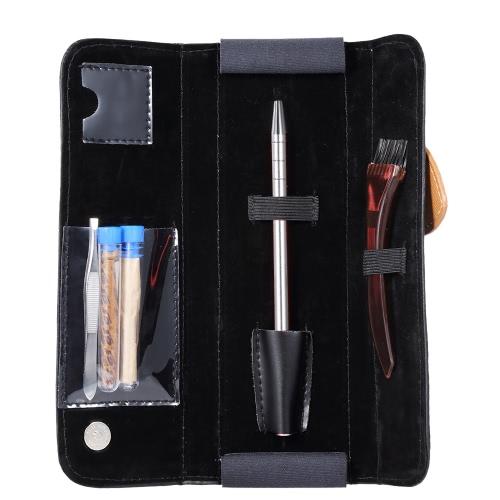 Edelstahl Stift Rasiermesser Set Salon Magic Gravierte Stift für DIY Haar Augenbrauen Bärte Styling Stift Rasierer mit Blade Pinzette PU Tasche