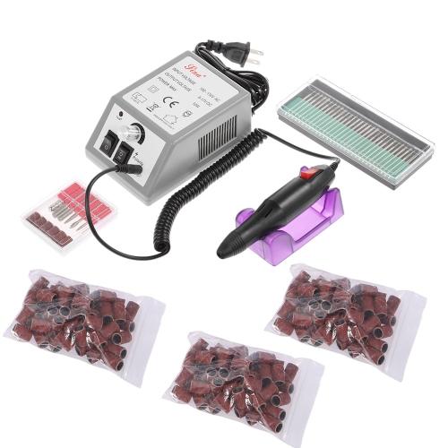 Электрический комплект сверла для ногтей Шлифовальные ленты Набор для ухода за ногтями Набор для ухода за ногтями EU / US Plug
