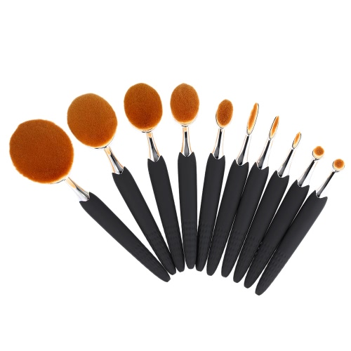 10Pcs Bee-Shaped Kit Nylon Hair Powder Concealer Foundation Maquillaje Cepillos