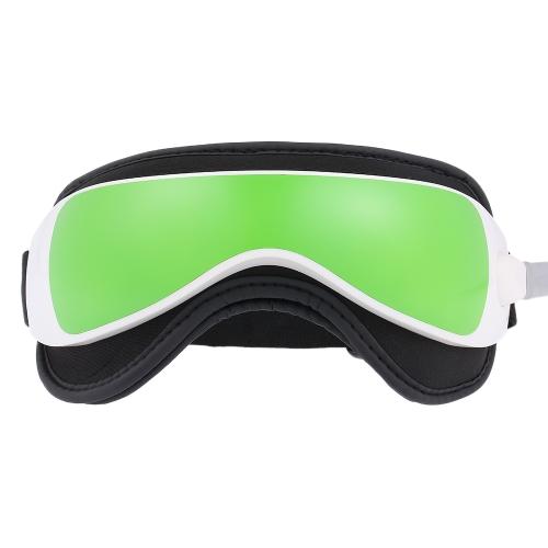 1pc Eye Massager Vibração Pressão de ar Aquecedor de infravermelhos Óculos de massagem Dispositivo Música Relaxamento portátil Terapia de cuidados
