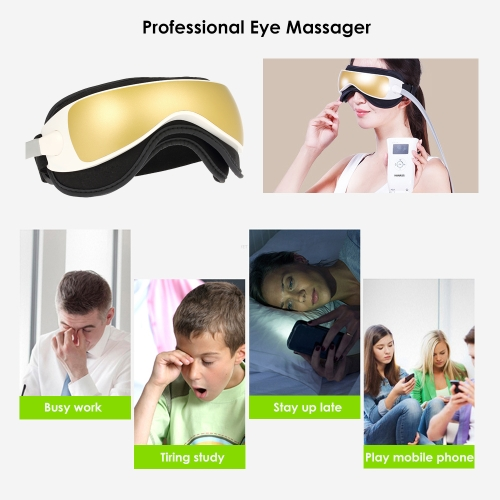 1pc Eye Massager Vibration Air Pressure Infrared Heater Massage Glasses Device Music Portable Relaxation Care Therapy