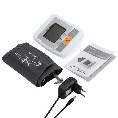 Fully Automatic Digital Blood Pressure Monitor Pro Upper Arm Cuff Tonometer Hematomanometer Sphygmomanometer Pulsometros Heart Rate Pulse Monitor LCD