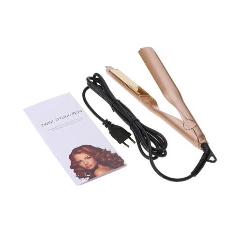 Digital Electric PTC Ceramic Titanium Plate Anti-scald 4 Temperature Level Hair Straightener Curler
