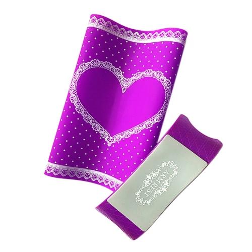 1 Set silicone main oreiller et tapis de table Nail Art Coussin Porte-Pad lavable bras pliable Rest Manucure outil Rosy