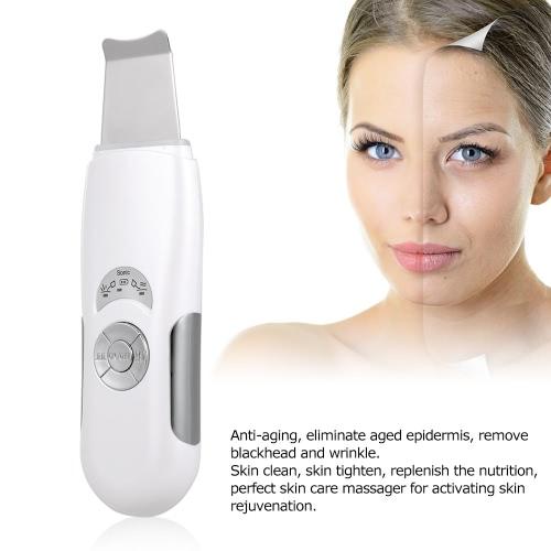 Sonic Skin Cleaner Ultrasonic Facial Skin Scrubber Exfoliator Blackhead Wrinkle Remover Anti-aging Skin Care Massager Machine EU P