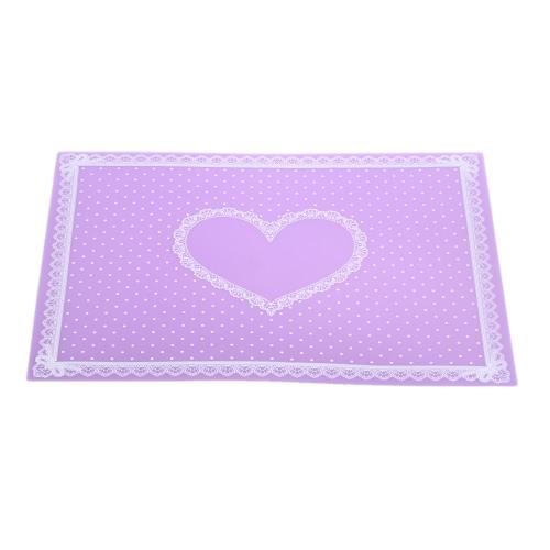 1Pc Silikon-Nagel-Kunst-Tabellen-Matte-waschbares faltbares Auflage-Silikon-Maniküre-Kissen-Punkt-Spitze-Stempel-Platten-Tabellen-Übergangs-Werkzeug
