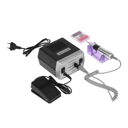 電気ネイルドリルマシンセットネイルファイルネイルポリッシャーネイルグレージングマシンペディキュア&マニキュアツールサンディングバンドネイルケアセットネイル看護キットEUプラグ