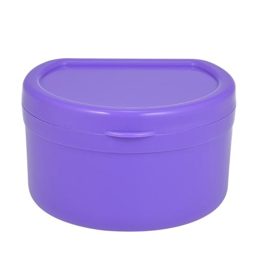 1 Unid caja de la dentadura caja de la dentadura dentales caja de limpieza de dientes falsos dentadura contenedor de baño sostenedor de la dentadura