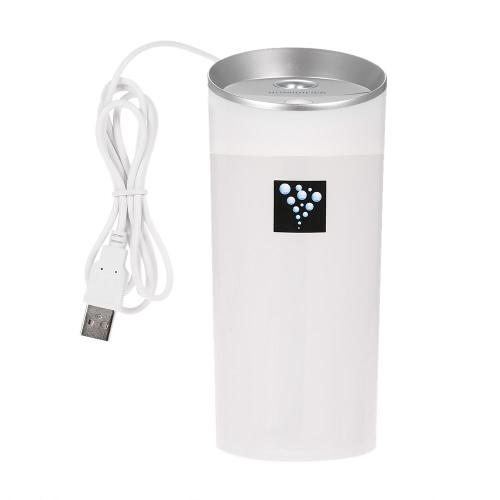 USB-Anionen-Luftbefeuchter Aromatherapie Aroma Diffuser 300ml Kapazität Cup 2 Nebel-Modi für Essential Oil für Büro-Auto-Home-Use-Weiß