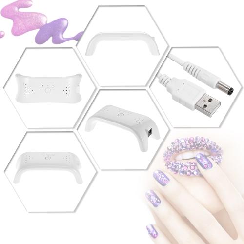 12W LED de uñas Secador de uñas automático Mini lámpara de uñas uñas de los pies del gel que cura la luz profesional del clavo del gel del Equipo de manicura blanca