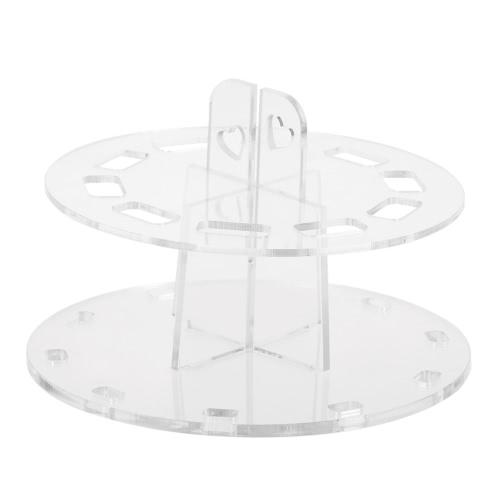 Acryl Oval Make-up-Bürsten-Halter-Standplatz Zahnbürste Kosmetik Pinsel Hängen Trocknen Organizer 10 Löcher Weiß