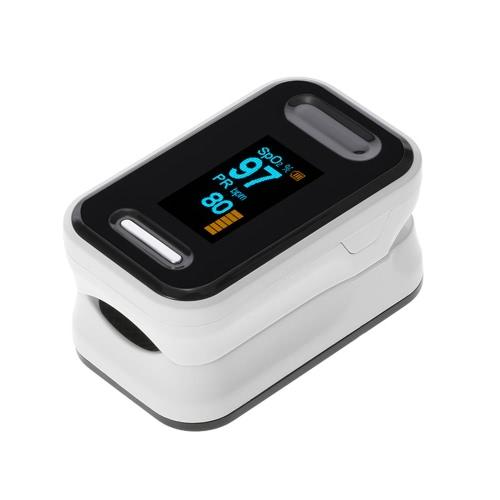 Портативный цифровой оксид кислорода Кислородный датчик OLED-дисплей SpO2 Fingertip Pulse Auto Power off Мгновенное считывание Насыщенность Монитор сердечного ритма