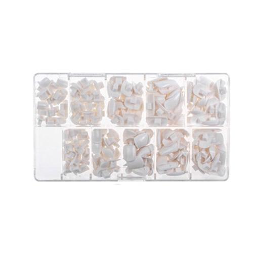 200 teile / paket 10 Größen Falsche Gefälschte Nägel Tipps Box für Flexible Praxis Modell Ausbildung Hand Nägel DIY Kunst Salon