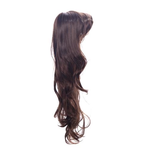 80 cm ファッション髪コスプレ パーティー茶色ウィッグ女性の波状毛