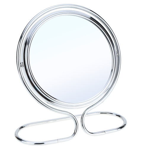 Anself 6 Inch 5x Magnification Rotating Double Dual Sides Circular Round Shape Bathroom Bedroom Folding Makeup Cosmetic Vanity Desk Stand Mirror