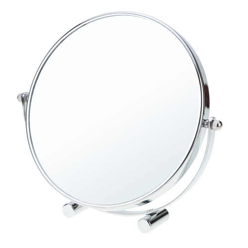 Anself 8 Inch 3x Magnification Rotating Double Dual Sides Circular Round Shape Bathroom Bedroom Makeup Vanity Desk Mirror