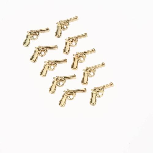 10Pcs 3D Golden Gun Nail Art Decorations DIY Nail Jewelry