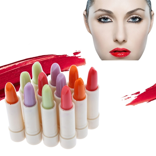 Bálsamos de labio 12pcs Color mágico cambio Color barras de labios hidratantes antiedad protección impermeable y afrutado