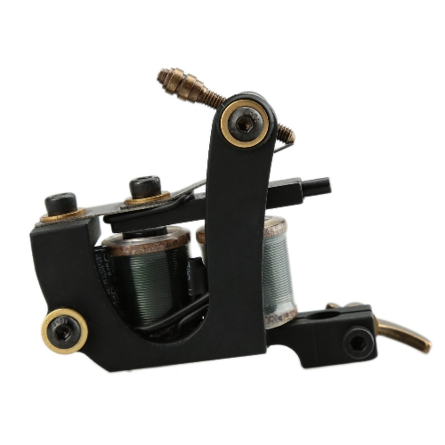 Imported Black Bat Coil Tattoo Machine Tattto Shader 12 Wrap Coils