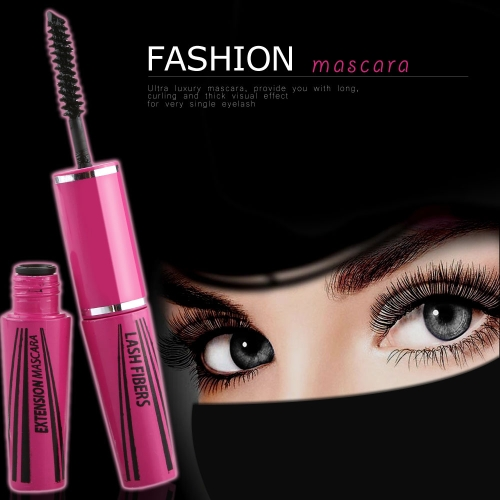 Luxurious Fiber Lashes Dense Curl Lady 2 Ended Mascara Extension Mascara