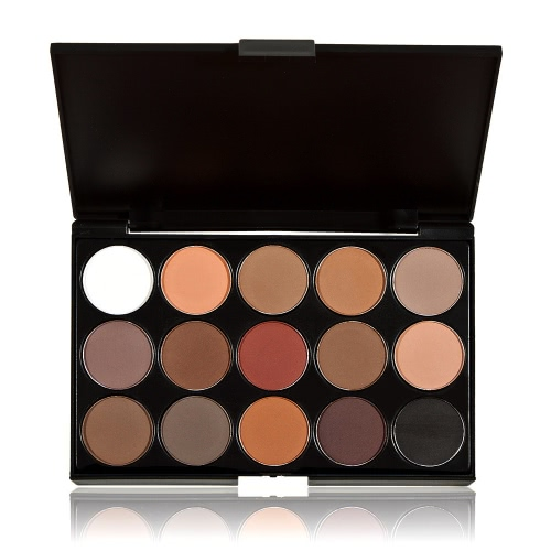 Anself Professional 15 Colors Women Cosmetic Makeup Neutral Nudes Warm Eyeshadow Palette 733180172747