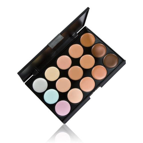 Anself 15 cor creme de camuflagem Concealers paleta olho Face cosméticos maquiagem tons terra