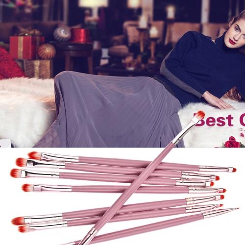 Single 2-in-1 2 Ended Eyeshadow Brush Eyebrow Brush Multifunctional Pink Makeup Brush