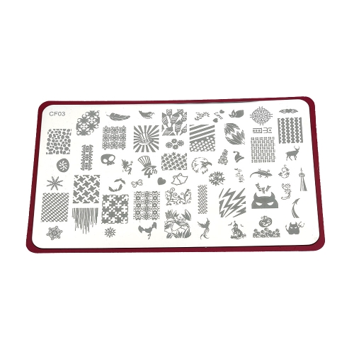 Nail Art Printer Plate Stamping Image Printer Steel Plate Fingernail Patterns Lovely Animals Brands Drawings Decorative All-round Pattern Printer Plate