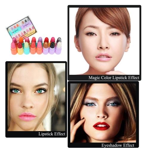 3 in 1 Magic Lipstick + Eyeshadow + Moisturizing Lipstick Mini Makeup Kit
