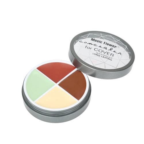 Musik-Blume Make-up 4 Farbe Gesichtscreme Concealer Cover