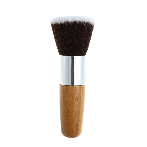 1Pc Short Flat Top Soft Brush Powder Brush Makeup Blush Foundation Brush Make Up Tool Cosmetics Brushes With Wood Handle