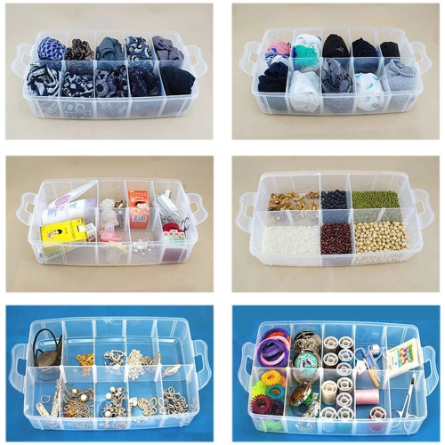 Transparent Plastic Jewelry Makeup DIY Home Organizer Boxes Portable Travel Cosmetic Storage Case