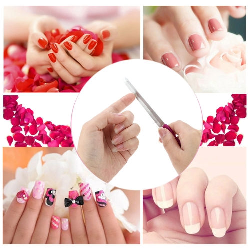 Nagelfeile Nail Peeling Professional Schleifen Rod Maniküre Stick Scrub Edelstahl Nagel Scrub Cuticle Remover Nagel Folientrimmer Nagel Puffer professionelle Maniküre Stick Nagel Kunst Pediküre & Maniküre-Tools