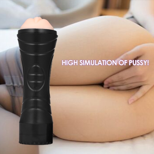 3D Male Vibrating  Masturbation Pocket Pussy Soft Silicone Artificial Vagina Sucking Masturbation Cup Sex Toy Sex Products Tighten