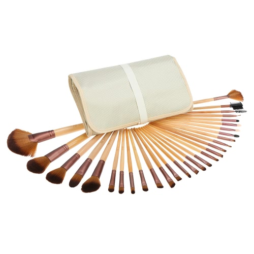 Körper 29pcs Make-up Pinsel Kit Professional Kosmetik Make-up Set Holzgriff Superfein Fibre Brush + Pouch/Tasche