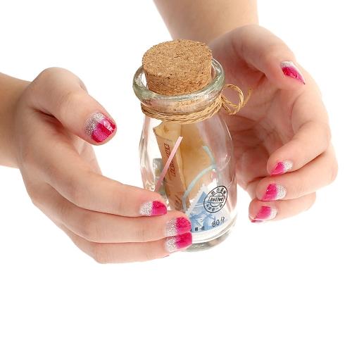 10 цветов блеск красочные резьба шаблон порошок ногтя Совет DIY составляют ногтей красоты украшения палец типа фиолетовый