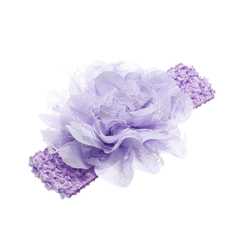 9 Colors Baby Headband Lovely Colorful Flower Girl Hair Band Knit Ribbon Headwear Lace Petal