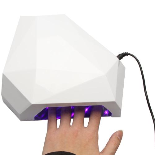 24Watt Mini Nail Art LED Gel Curing UV Lamp Polish Dryer Blower Pedicure Manicure Tools with 3 Timer 100-240V