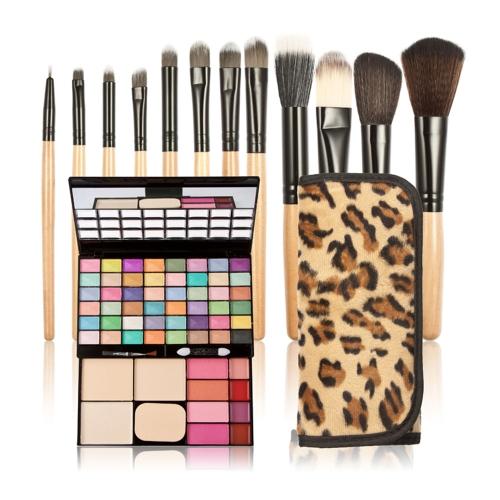 New Eyeshadow Lipstick Make-up Powder Blusher Makeup Palette Set & 12PCS Makeup Cosmetics Brush Set + Case
