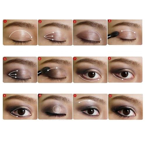 Новые 15 цветов палитры теней для век + 7PCS Роза макияж кисти