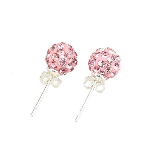 1 Pair Women Crystal Shambhala Earrings Disco Ball Pave Ear Decorations