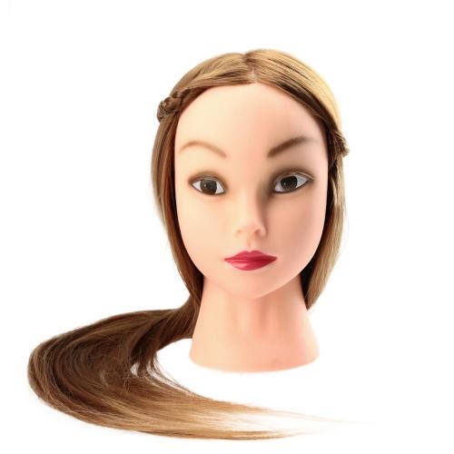 27 «женский Макетные длинные волосы парикмахерские обучение головка модель с зажим золотисто-желтый