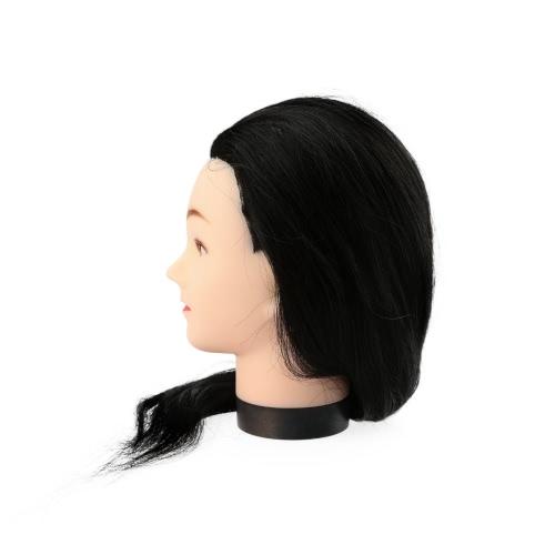 23 «Черный парикмахер учебные головы пустышка модель с практике глава модели стилизации длинные волосы Парикмахерские с зажимом