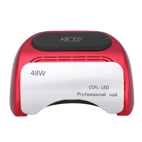 Abody 110-220V 48W Professional CCFL + LED Ультрафиолетовая лампа для салонов красоты Салон для ногтей с автоматической настройкой таймера индукции