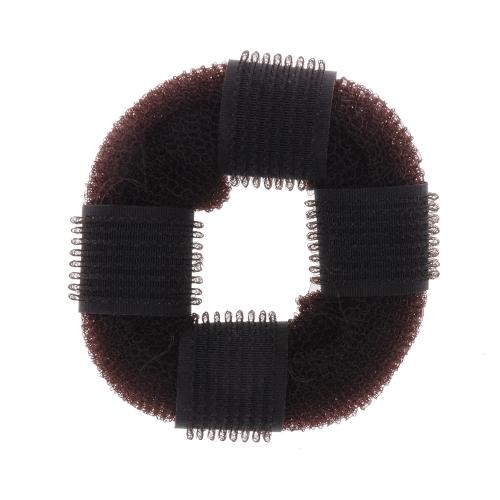 Пончик с липкой пластины волос шар головы волосы короче салон инструмент