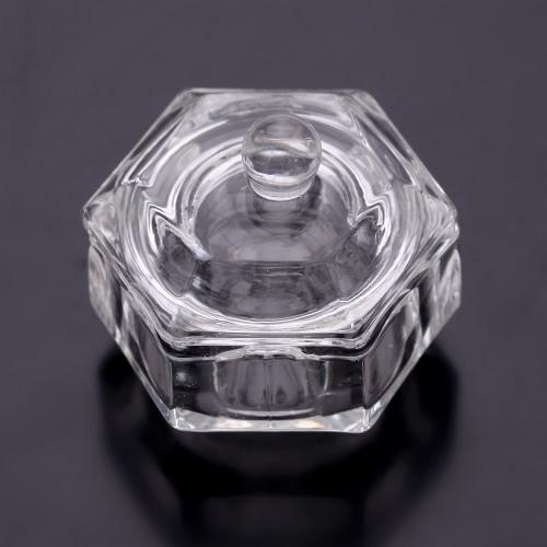Кристальный Нейл-арт Акриловый Стеклянная тара Чаша Кубок Жидкость Порошок с покрышкой