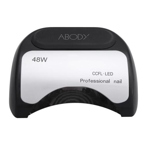 110-220V 48W professionelle KKL + LED UV Lampe Licht-Beauty-Salon Nagel Trockner mit automatischen Induktion Timer-Einstellung schwarz